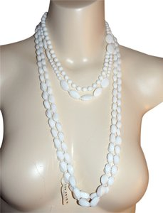 Other Vintage White Milk Glass Necklace Lot of 3 Glass Bead Necklaces