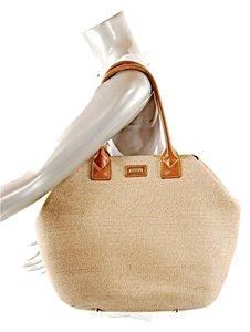 Eric Javits Tote in Natural w/Brown