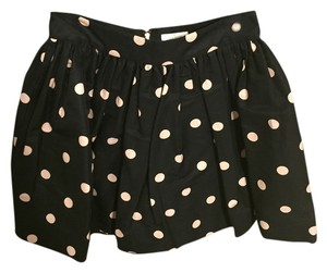 Kate Spade Mini Skirt Black and White polka dot