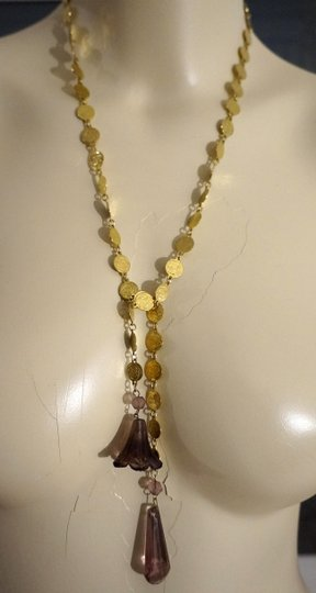 Other IMMI Indie Boho Vintage Faceted Crystal & Glass Flower Lariat Necklace Sautoir