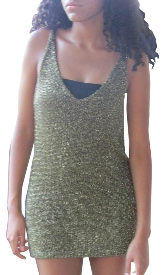 9a087d2fee70f Alfani Gold Black Metallic Tank Top Cami. Size  16 (XL ...