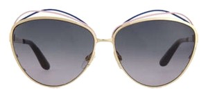 Dior Golden Metal Butterfly Sunglasses With Wire