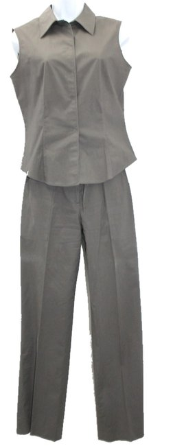 Tahari TAHARI SLEEVELESS STRETCH COTTON BLEND PANT SUIT 4