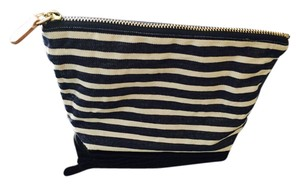 J.Crew J.Crew French Blue and White Stripe Zip Pouch