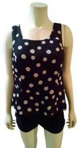 Jones New York Size 8 Medium P1530 Top black, beige