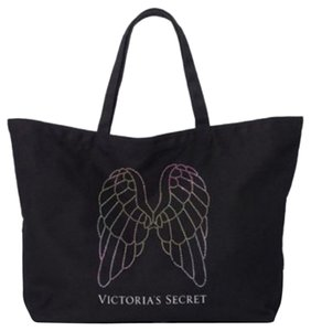 Victoria's Secret Sparkle Angel Sparkle Tote in Black