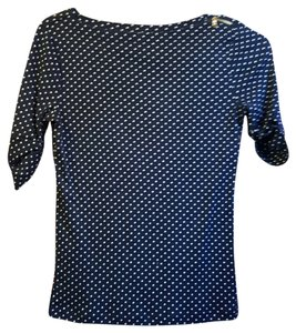 Ralph Lauren T Shirt Navy blue polka dot