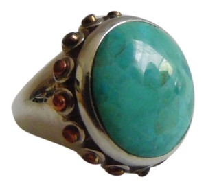 .925 Sterling Silver Turquoise Ring Size 8