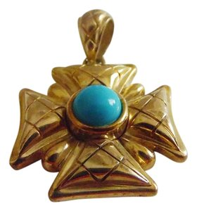 Veronese Collection Veronese Collection 18kt Clad Turquoise Maltese Pendant