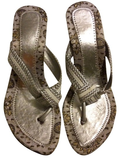 Other White & silver Sandals