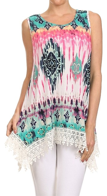Vision Lace Lace Sleeveless Tunic