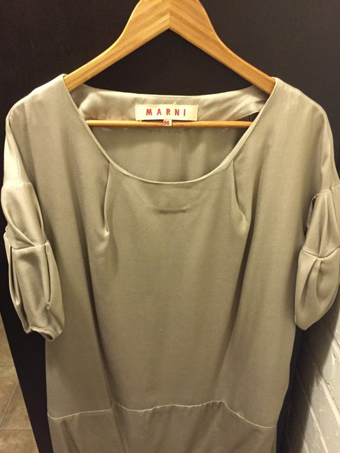 Marni Italy Designer Belted Haute Couture Sleeves Dress