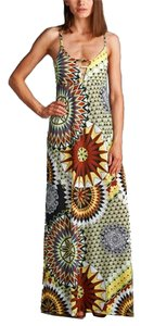 Brown Sunburst Maxi Dress by California Women Maxi