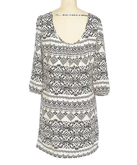 Brandon & Ashley short dress Black & White Tribal Boho Tassel Tie Open on Tradesy