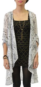 Potter's Pot Boho Chic Roll-tab Sleeves Lightweight Cardigan