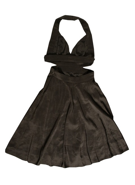 Narciso Rodriguez Signature Cutout Silk Cotton Elegant Pockets Dress
