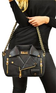 Carmin Moto Crossbody Cross Body Zip Pockets Chain Strap Designer Shoulder Bag