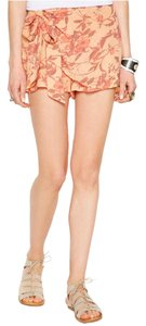 Free People Floral Skorts Skort Orange
