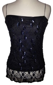 Jill Stuart Sequins Sexy Top Navy Blue