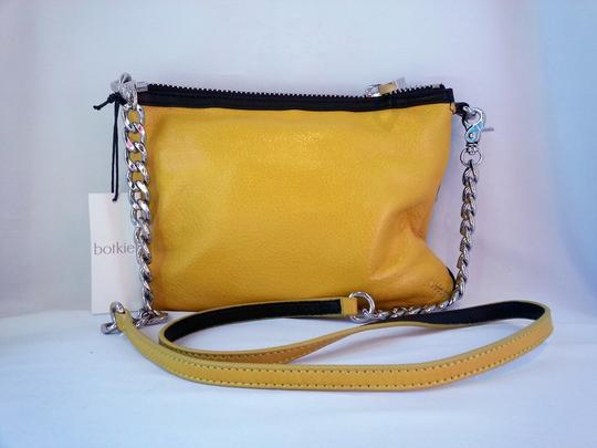 Botkier Silver Chain Detachable Chain Leather Zippers Metal Zippers Clutch Cross Body Bag