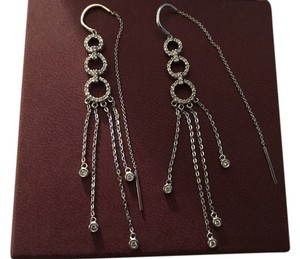 Other Pave White Diamond threader earrings in white gold