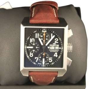 Fortis Fortis Square 667.10.41 L.16 Chronograph Automatic Brown Leather Men's Watch