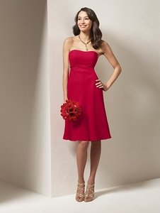 Alfred Angelo Cherry Chiffon Style 7064 Casual Bridesmaid/Mob Dress Size 6 (S)