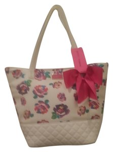 Betsey Johnson Tote in Multi Color Roses