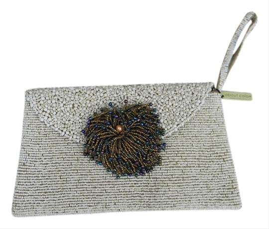 Other Handbags Pocketbooks Hand Beaded Off White Clutch