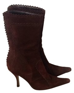 Cynthia Rowley Suede Suede Pointy Toe Sexy Stylish Brown Boots