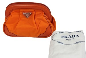 Prada * Prada Cosmetic Pouch - Orange