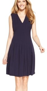 Calvin Klein Pleate Fit And Flare Dress