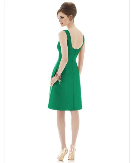 Alfred Sung Pantone Emerald Sateen Twill D658 Formal Bridesmaid/Mob Dress Size 4 (S)