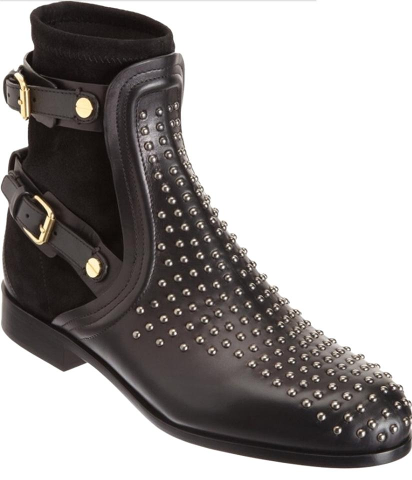 Chloé Black Studded Studded Black Suede Leather Boots/Booties 830b3c