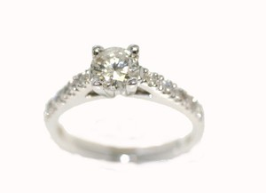 White Gold High Sholder Diamond Engagement Ring