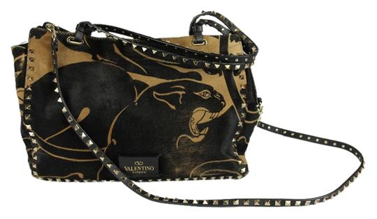 Preload https://item3.tradesy.com/images/valentino-rockstud-panther-print-calf-hair-tote-black-leather-shoulder-bag-4424842-0-0.jpg?width=440&height=440