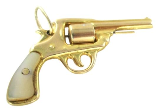 Other 14KT SOLID YELLOW GOLD PENDANT REVOLVER GUN PISTOL 4.5 GRAMS NOT SCRAP JEWELRY