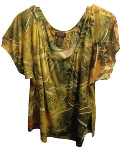 Jane Ashley Top Green & Yellow