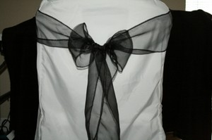 White Polyester Folding Chair Covers Reception Decoration