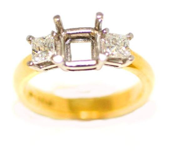 Two Tone Tree Classic Semi Mount Engagement Ring