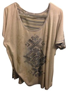 Maurices Top Beige and Blue