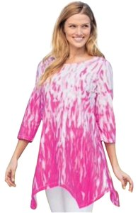 c27189f80a8 Woman Within Raspberry Tie Dye Mint Still In Plastic Large Xl 16 18 Tunic