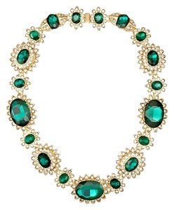 Kenneth Jay Lane Kenneth Jay Lane Emerald Green Fancy Necklace