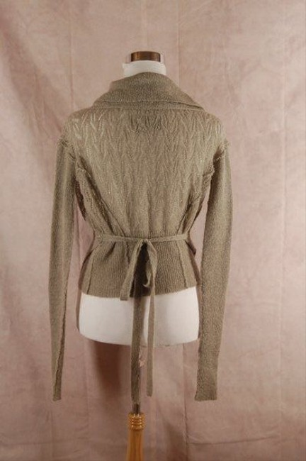 AllSaints All Spitalfields Wrap Cardigan Beige Mohair Sweater