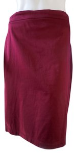 Max Studio Straight Stretchy Career 1850 Skirt Oxblood Red