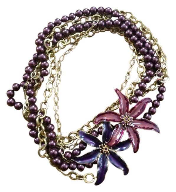 Item - Purple and Gold Bcbg Necklace