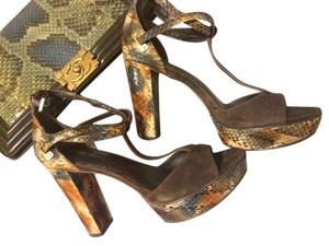 Rachel Zoe Brown & green Platforms