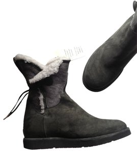 UGG Australia Leather Sheepskin Collection grigio grey Boots