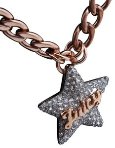 Juicy Couture Juicy Couture YJRU7488 N - Chain Link Pave Star Necklace