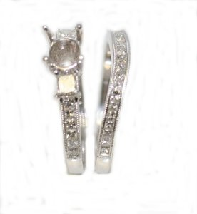Set Of Princess Cut Semi Mount